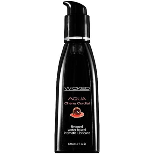 Lubrykant jadalny do lizania i całowania Wicked Aqua Cherry Cordial Waterbased Lubricant 120 ml